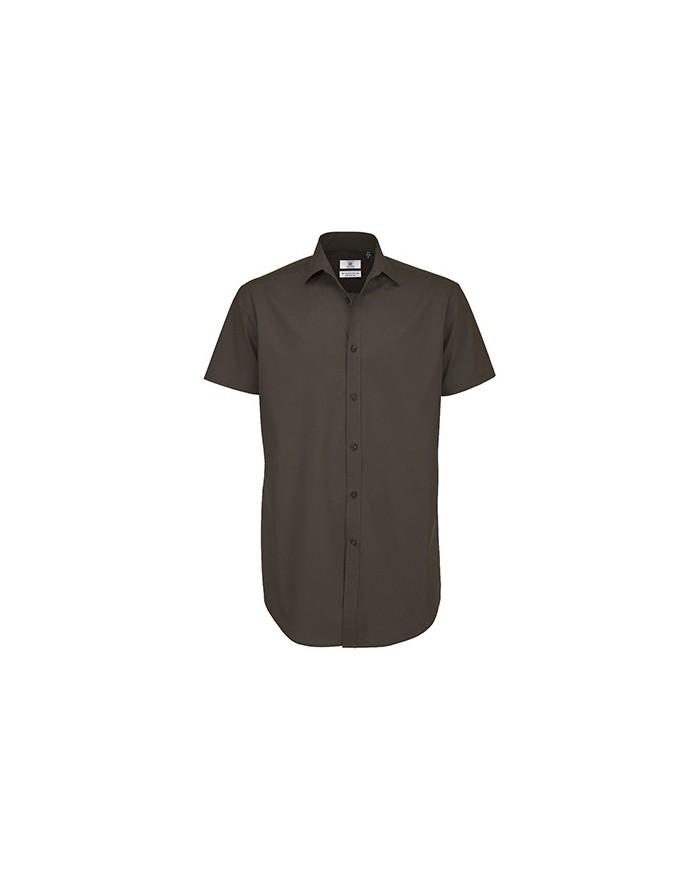 Chemise Homme Poplin Black Tie SSL - Chemise d'entreprise Personnalisée avec marquage broderie, flocage ou impression
