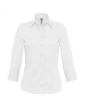 Milano/Femme Popelin Chemise 3/4 sleeves
