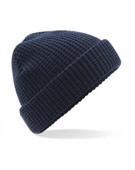Bonnet classique en maille gaufrée
