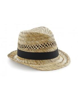 Chapeau mou de plage en paille - Casquette Personnalisée avec marquage broderie, flocage ou impression. Grossiste vetements v...