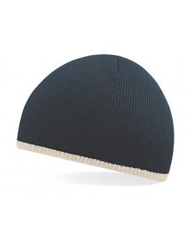 Bonnet En Tricot 2 tons - Casquette Personnalisée avec marquage broderie, flocage ou impression. Grossiste vetements vierge à...