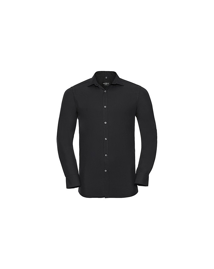 Sweater Homme LS Ultimate Stretch - Chemise d'entreprise Personnalisée avec marquage broderie, flocage ou impression. Grossis...