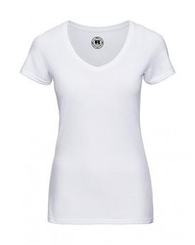 Femme Col-V HD T-Shirt