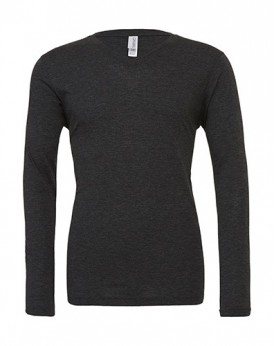 Unisex Triblend LS Col-V T-Shirt