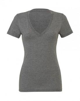 Femme Triblend Profond Col-V T-Shirt