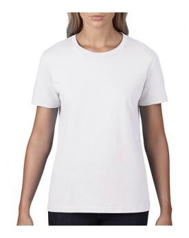 T-Shirt Femme Premium Coton - Tee shirt Personnalisé avec marquage broderie, flocage ou impression. Grossiste vetements vierg...