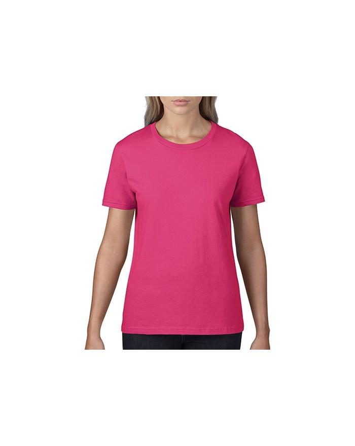 T-Shirt Femme Premium Coton - Tee-shirt Personnalisé avec marquage broderie, flocage ou impression. Grossiste vetements vierg...