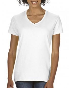 Premium Coton Femme Col-V T-Shirt