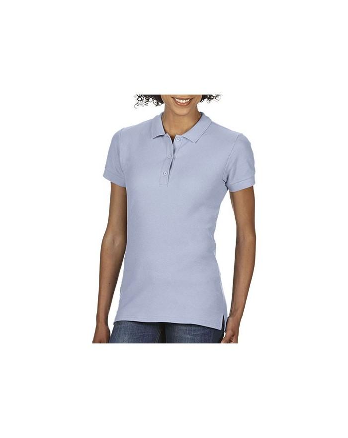 Polo Premium Coton Femme Double Piqué - Polo Personnalisé avec marquage broderie, flocage ou impression