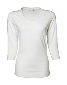 Femme 3/4 Manche Stretch T-Shirt