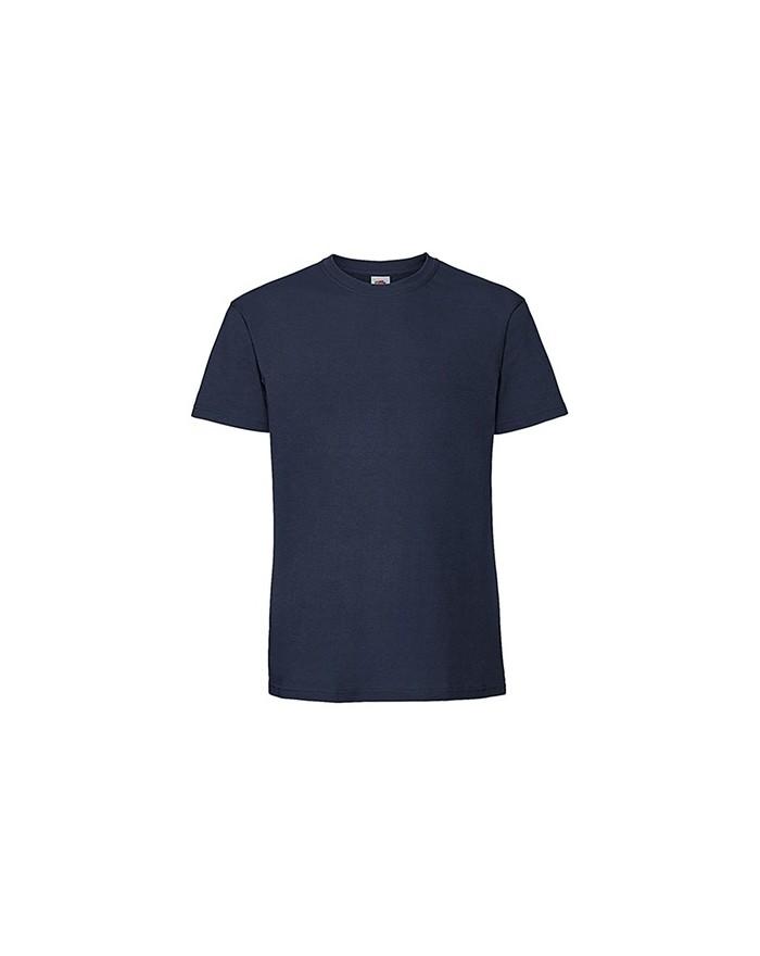 T-Shirt Homme peigné et baguette Premium - Tee shirt Personnalisé avec marquage broderie, flocage ou impression. Grossiste ve...