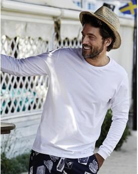 T-Shirt manches longues Fashion double coton pré-rétréci - Tee-shirt Personnalisé avec marquage broderie, flocage ou impressi...