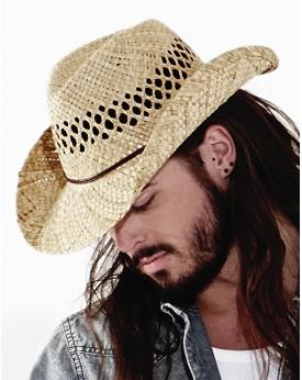 Chapeau de Cowboy en paille - Casquette Personnalisée avec marquage broderie, flocage ou impression. Grossiste vetements vier...