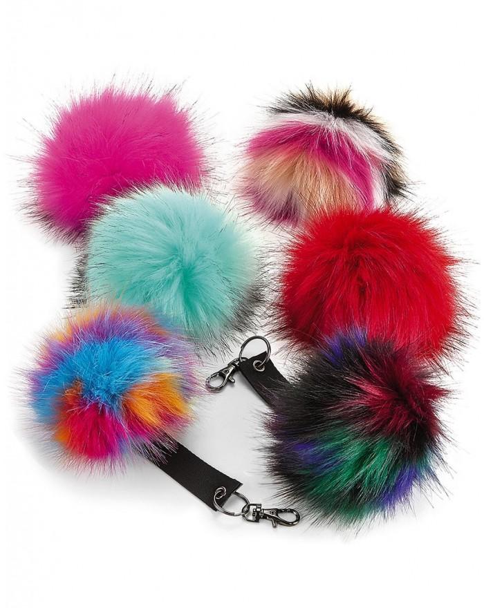 Porte-clés Pop Pom en fausse fourrure - Casquette Personnalisée avec marquage broderie, flocage ou impression. Grossiste vete...