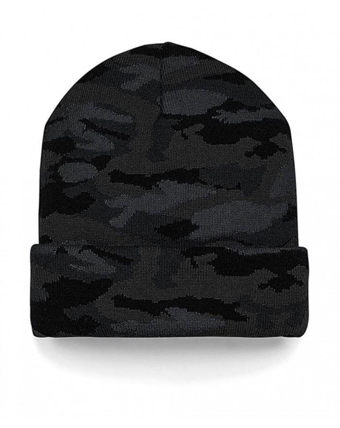 Bonnet à revers camouflage - Casquette Personnalisée avec marquage broderie, flocage ou impression. Grossiste vetements vierg...