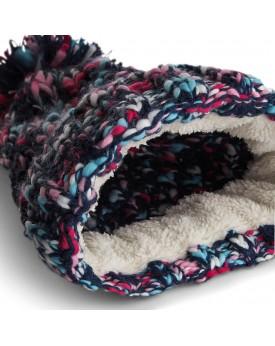 Bonnet Twister à pompon - Casquette Personnalisée avec marquage broderie, flocage ou impression. Grossiste vetements vierge à...