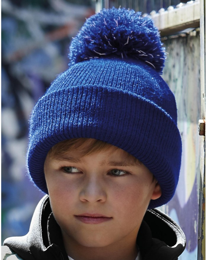 Bonnet à pompon réfléchissant Junior - Casquette Personnalisée avec marquage broderie, flocage ou impression. Grossiste vetem...