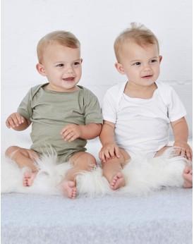 Body Bébé Jersey Une seule pièce Manches Courtes - Vêtements Enfant Personnalisés avec marquage broderie, flocage ou impression