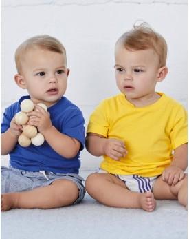 T-shirt Bébé Jersey Manches Courtes - Vêtements Enfant Personnalisés avec marquage broderie, flocage ou impression