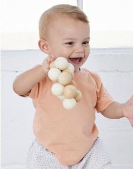 T-shirt Bébé Triblend Manches Courtes - Vêtements Enfant Personnalisés avec marquage broderie, flocage ou impression