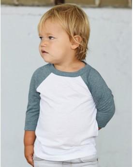 T-Shirt Enfant Baseball Manches 3/4 - Vêtements Enfant Personnalisés avec marquage broderie, flocage ou impression. Grossiste...