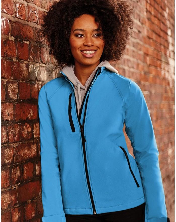 Veste Femme Softshell doublure, 3 couches respirant, coupe-vent et water resistant - Veste Softshell Personnalisée avec marqu...