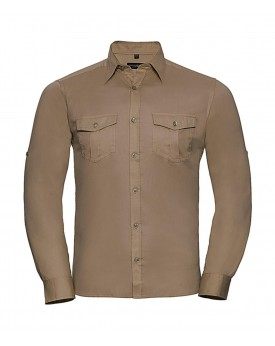 Homme Roll Manche Chemise LS