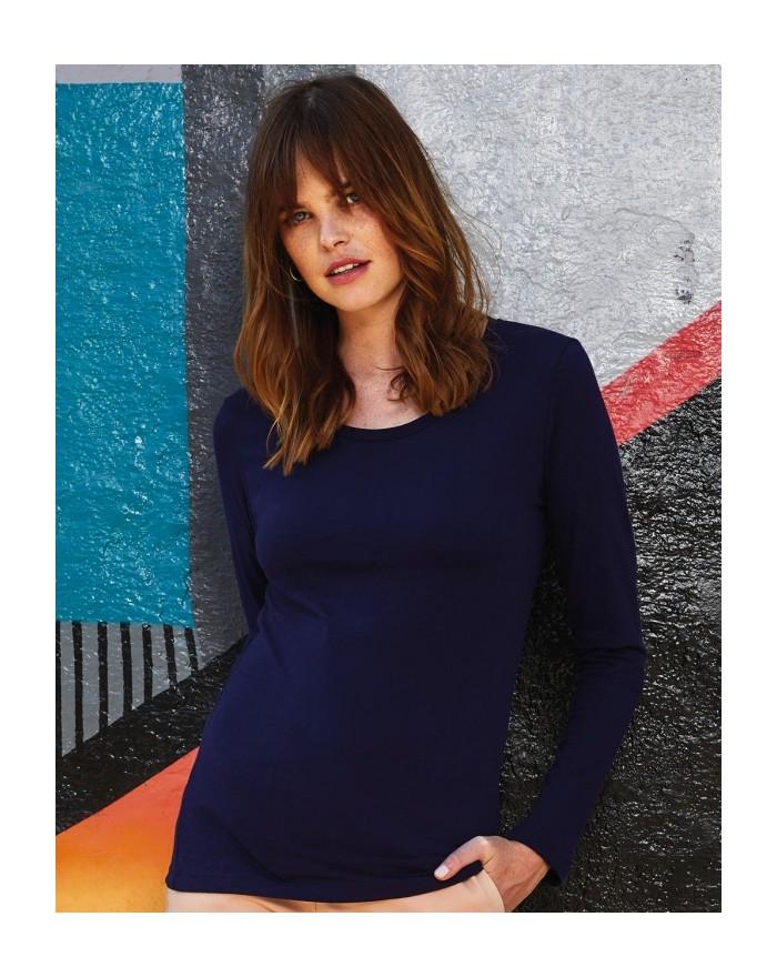 T-Shirt Femme Inspire LSL T - Vêtements & sacs Bio Personnalisés avec marquage broderie, flocage ou impression. Grossiste vet...