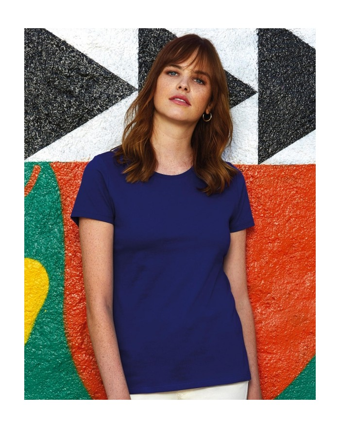 #E190 T-Shirt Femme - Tee-shirt Personnalisé avec marquage broderie, flocage ou impression. Grossiste vetements vierge à pers...