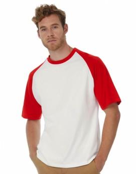 T-Shirt Base-Ball - Tee-shirt Personnalisé avec marquage broderie, flocage ou impression. Grossiste vetements vierge à person...