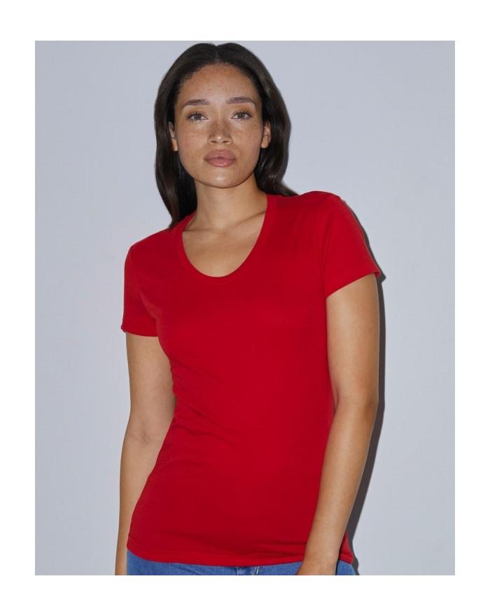 T-Shirt Femme Poly-Coton - Tee-shirt Personnalisé avec marquage broderie, flocage ou impression. Grossiste vetements vierge à...