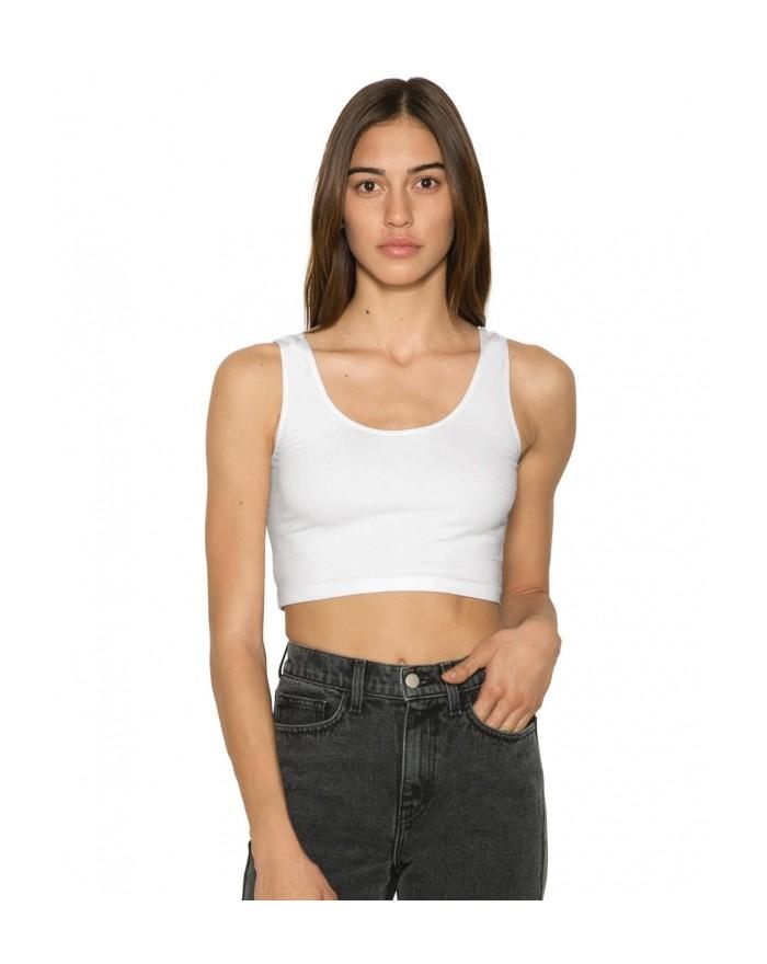 Femme Sans Manches Crop Top Tee-shirts