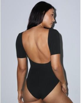 Femme Double Col en U Bodysuit Tee-shirts