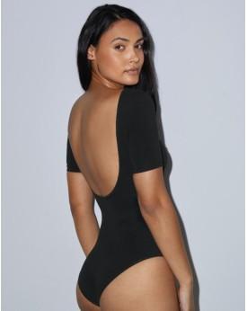 Bodysuit Femme Double Col en U - Tee shirt Personnalisé avec marquage broderie, flocage ou impression. Grossiste vetements vi...