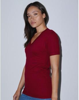 Unisex Fine Jersey Col-V T-Shirt - New avec marquage broderie, flocage ou impression. Grossiste vetements vierge à personnali...