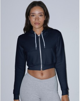 Sweat à Capuche Femme Flex Crop Zip - Sweat Personnalisé avec marquage broderie, flocage ou impression. Grossiste vetements v...