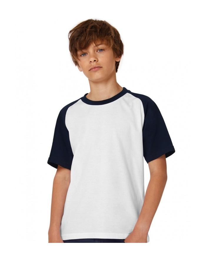 T-Shirt Enfant Base-Ball - Vêtements Enfant Personnalisés avec marquage broderie, flocage ou impression