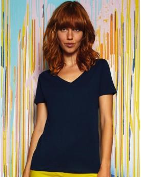 T-Shirt Femme Inspire V - Vêtements & sacs Bio Personnalisés avec marquage broderie, flocage ou impression. Grossiste vetemen...