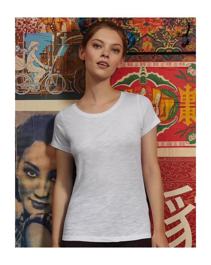 T-Shirt Femme Inspire Slub - Vêtements & sacs Bio Personnalisés avec marquage broderie, flocage ou impression. Grossiste vete...