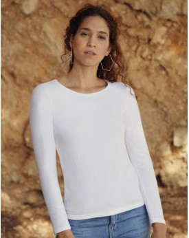 T-Shirt Femme Valueweight manches longues T - Tee shirt Personnalisé avec marquage broderie, flocage ou impression. Grossiste...