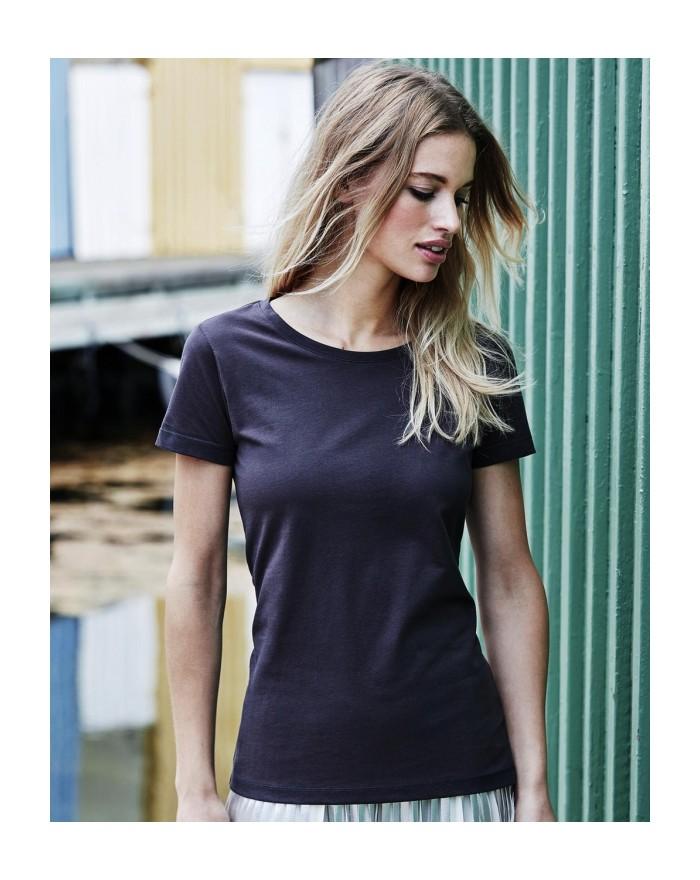 T-Shirt Femme Luxury - Tee-shirt Personnalisé avec marquage broderie, flocage ou impression. Grossiste vetements vierge à per...