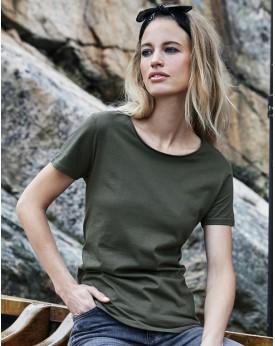T-Shirt Femme col Brut - Tee-shirt Personnalisé avec marquage broderie, flocage ou impression. Grossiste vetements vierge à p...