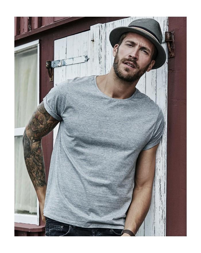 T-Shirt manches enroulées - Tee-shirt Personnalisé avec marquage broderie, flocage ou impression