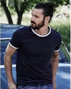 T-Shirt Ringer - Tee-shirt Personnalisé avec marquage broderie, flocage ou impression. Grossiste vetements vierge à personnal...