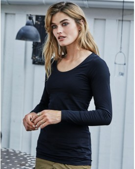 Femme Stretch LS T-Shirt Extra Lang Tee-shirts