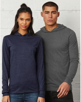 Sweat À Capuche Unisexe Jersey LS - Tee-shirt Personnalisé avec marquage broderie, flocage ou impression. Grossiste vetements...