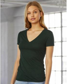 Femme Triblend Profond Col-V T-Shirt Tee-shirts