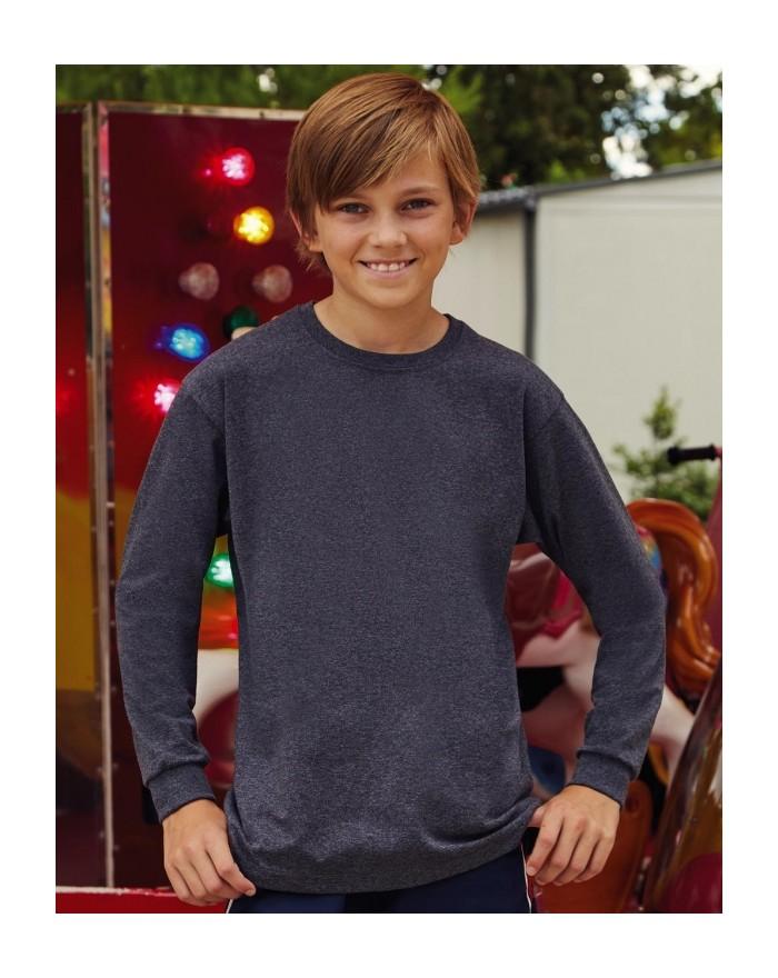 T-Shirt Enfant Valueweight Manches Longues - Vêtements Enfant Personnalisés avec marquage broderie, flocage ou impression. Gr...