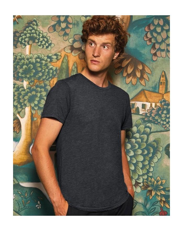 T-Shirt Homme Triblend - Tee shirt Personnalisé avec marquage broderie, flocage ou impression. Grossiste vetements vierge à p...
