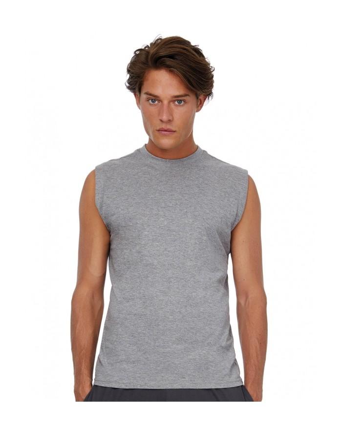 T-Shirt Exact Move Sans Manches - Tee shirt Personnalisé avec marquage broderie, flocage ou impression. Grossiste vetements v...